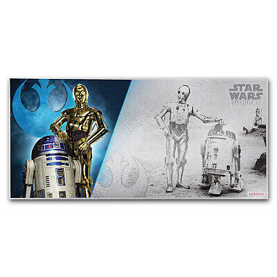 2018 Niue 5 gram Silver $1 Note Star Wars R2-D2 and C-3PO - SKU#163662