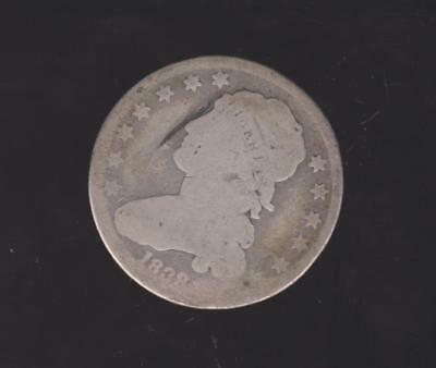 1838 Bust Style Quarter--  Good  Detail-  Free Shipping