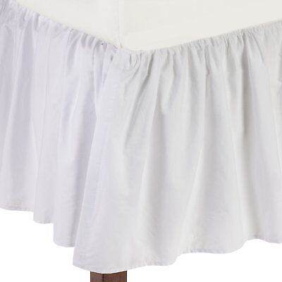 OpenBox American Baby Company 100% Cotton Percale Ruffled Crib Skirt, White