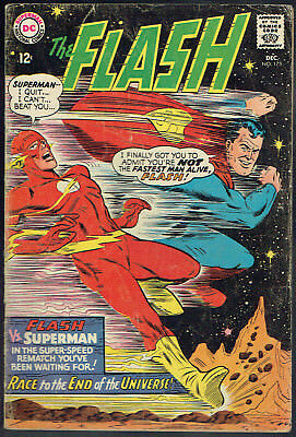 THE FLASH  175  GD/VG/3.0  -  Flash vs. Superman in a race to the end!