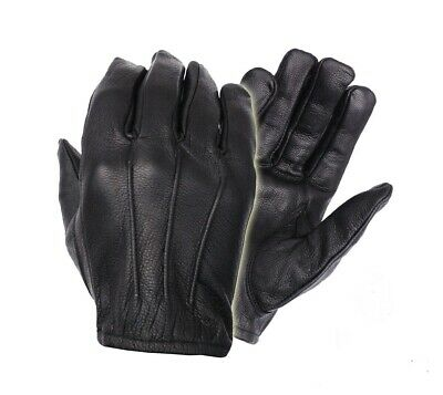 Men's Genuine  Leather Police Search Driving Fashion Gloves Smart Snug Fit