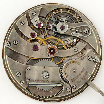 Agassiz OF 39mm Top Grade Pocket Watch Movement Wolf Teeth 21j 8adj Extra RUNS