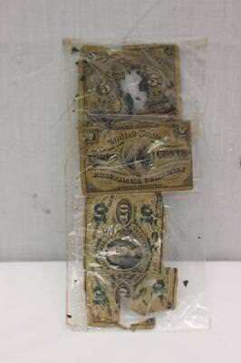 US 1863 Fractional Currency Notes $0.03 $0.10 $0.05