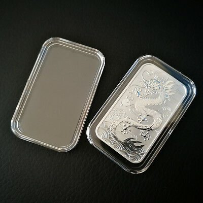 Acrylic Capsule For Perth Mint Rectangle Dragon 1oz Silver Bullion Coin