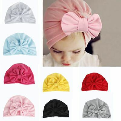 Toddler Infant Bow Cap Baby India Hats Boy Beanie Girl Cotton Turban
