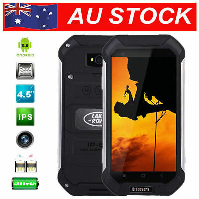 Smartphone Land V19 Rover Unlocked Android 5.1 Rugged Quad Core Dual SIM Black