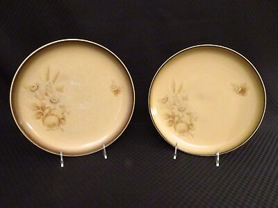 Pair of 2 Denby Stoneware MEMORIES Brown Floral 10.25  Dinner Plates England : denby memories dinnerware - Pezcame.Com