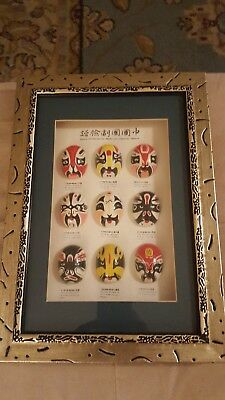 Types of Facial Make-up in Chinese Opera in Decorative Frame Wall Picture