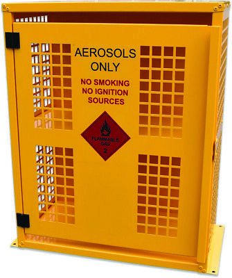 Aerosol Storage Cage – 64 Can capacity. Made in Australia to meet Aust Standards