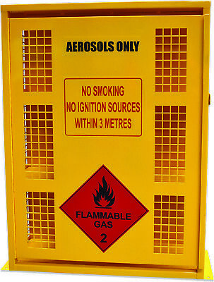 Aerosol Storage Cage. 132 Can capacity. Made in Australia to meet Aust Standards