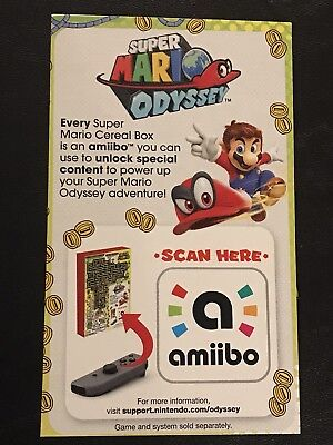 "Super Mario Odyssey Cereal Nintendo Switch Amiibo Only (""Delicious Amiibo"")"