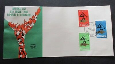 Singapore...1968 National Day...fdc...