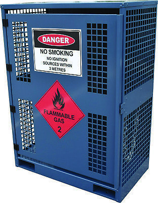 Forklift Gas Cylinder Cage. Capacity 2 x Cylinders. Made in Australia