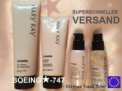 Mary Kay TimeWise MIRACLE WUNDER SET Cleanser Moisturiser Day / Night Solution ✈