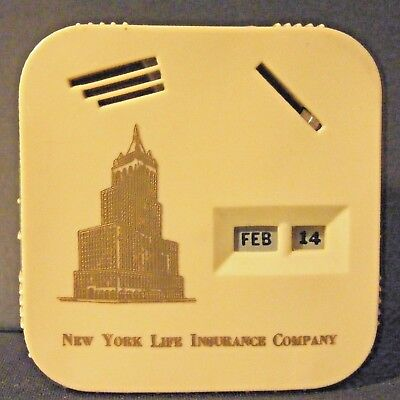 Vintage Tri-Coin Calendar Bank  New York Life Insurance Co NM
