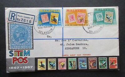Malaysia ..1967 Stamp Centenary Cover....registered..with Information Booklet