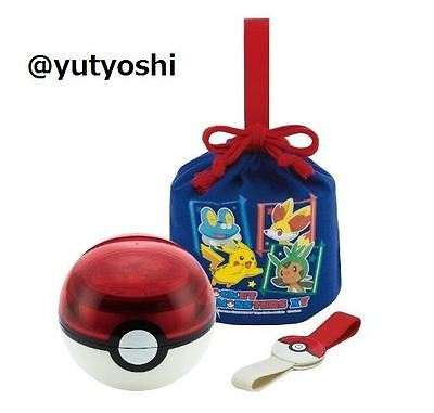 SKATER Ball type lunch box Monster ball Pokemon XY With drawstring New