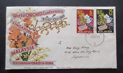 Malaysia ..1963 World Orchid Congress...fdc....with Information Booklet