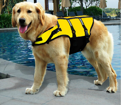 Pet Dog Life Swimming Jacket Float Vest Adjustable Reflective Buoyancy Aid Vest