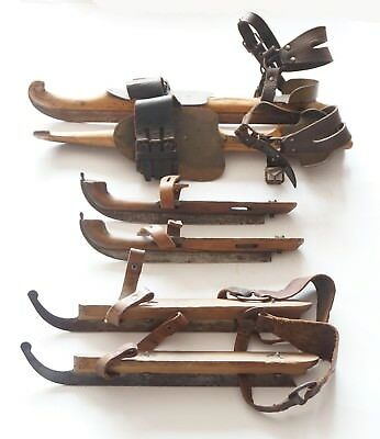 Antique ice skates 3 pairs  FREE SHIPPING