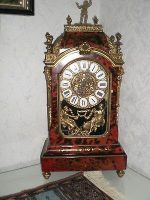 GROSSE BOULLE UHR  mit wand konsole
