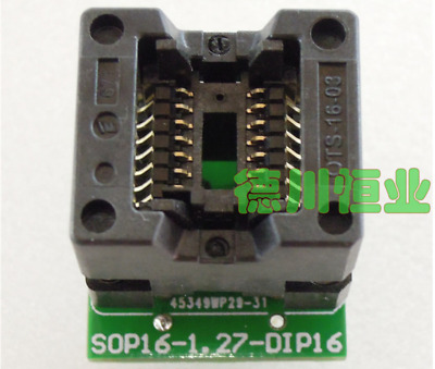 SOP14 SOIC14 SO14 to DIP14 Test Socket Adapter Pitch 1.27mm IC Body Width 3.9mm