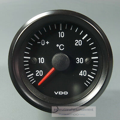 VDO AUSSENTHERMOMETER ANLAGE  AUTO THERMOMETER   12V  kpl. m.FÜHLER  classic sw.