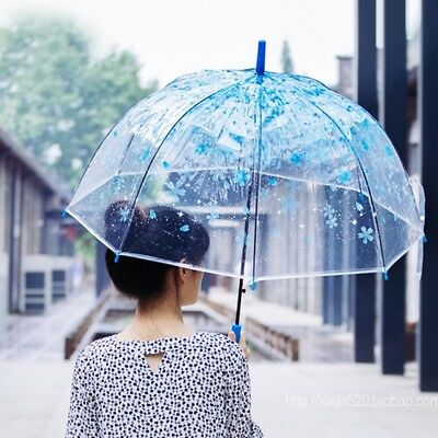 Top Quality Clear Umbrella Windproof for weddings rain auto open dome spade NEW