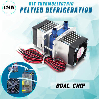 Thermoelectric Peltier Refrigeration Cooler water cooling System + Fan DIY Tools