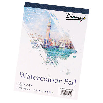 Watercolor Paper Pad Painting Artist Drawing Paper Sketchbook 15 Sheets A4
