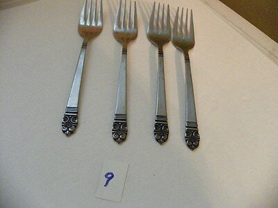 Set Of 4  Stanley Roberts  Highmont  Stainless  Salad Forks