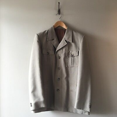True Vintage Burton 1960s/70s Men's Safari Suit Jacket Fitted Blazer 38 S- M