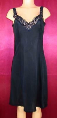 Vanity Fair~Tank Style Full Slip with Flare~Black~36