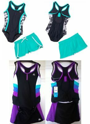 NWT ~ Gerry Girl's Swimsuit, One-piece+Shorts OR Tank+Bottom, Size 7-16