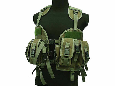 Tactical 97 Military US Navy Seal Combat Vest Hydration Bag Airsoft Paintball OD
