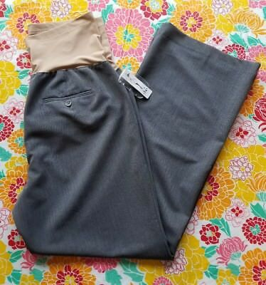 Duo Maternity Dress Pants Over Belly Full-Panel Size Large Heather Gray NWT