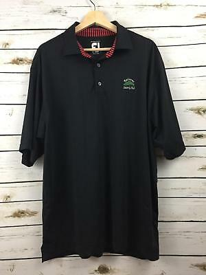 Footjoy Prodry Lisle Titleist FJ Mens Golf Polo Raintree Country Club L Black