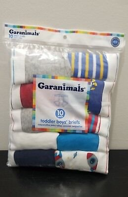 Grananimals Toddler Boys 10 pack briefs Size 2t/3t