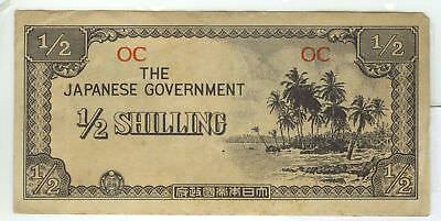 Japanese Invasion Occupation Note Oceania Islands Half Shilling 1942 WWII