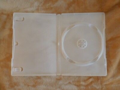 """5/8"""" 14 mm DVD Case Movie Box New CLEAR FROST New holds 1 disc +3-pack+"""