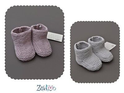 Baby slippers in wool 6 months, Girls and Boys birth gift