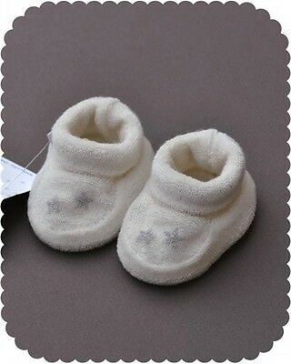 Baby slippers in cotton, birth gift 3 moments, 6 months Girl and Boy