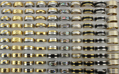 50pcs Wholesale Mixed Lots Men's Jewelry Stainless Steel Fashion Rings AH592