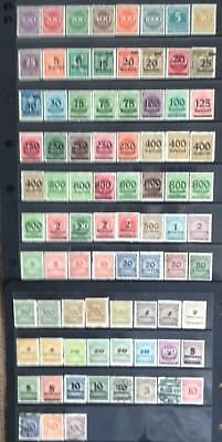 Germany 1923 Inflation issues MNH/MLH