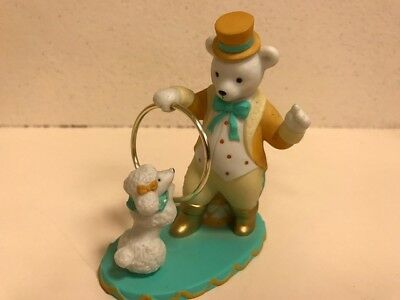 Circus Bear Training Poodle To Jump Through Hoop Avon Figurine 1993 Delightful
