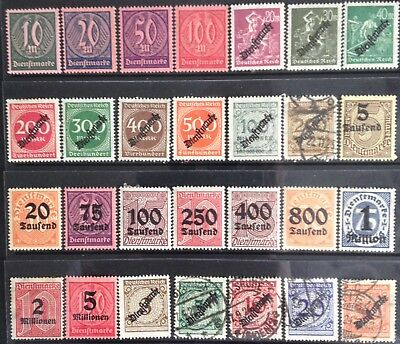 Germany 1923 Official issues MNH/MLH & Used