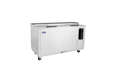 New 65in Deep Well Horizontal Bottle Cooler Stainless Free Shipping & Lift Gate