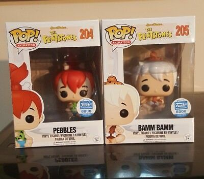 Funko Pop! Bamm Bamm and Pebbles Funko Shop Exclusive 8000 Pieces