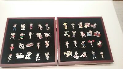 Willabee & Ward Betty Boop Pin Collection in Original Wood Box