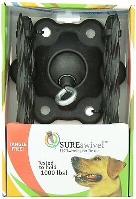 SUREswivel 360 degree Swiveling Pet Tie-Out, Made in the USA